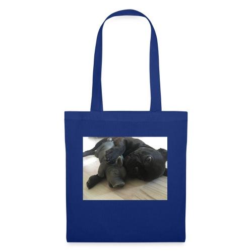 kuschelnder Hund - Stoffbeutel