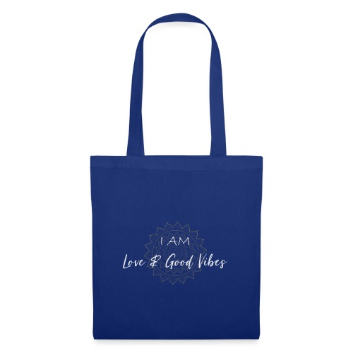 I am love and good vibes white gold - Stoffbeutel