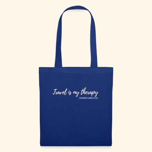 Travel is my therapy weiss - Modern Sabbatical - Stoffbeutel