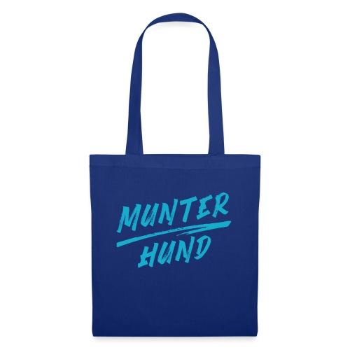 Munter Hund Logo Blue - Stoffbeutel