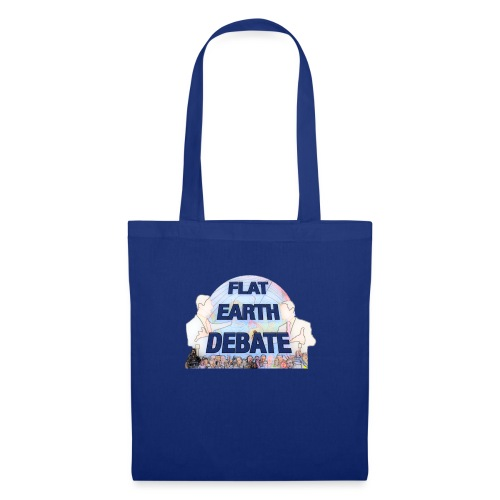 Flat Earth Debate Cartoon - Tote Bag