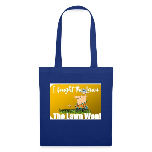 I fought the lawn cartoon - Tote Bag