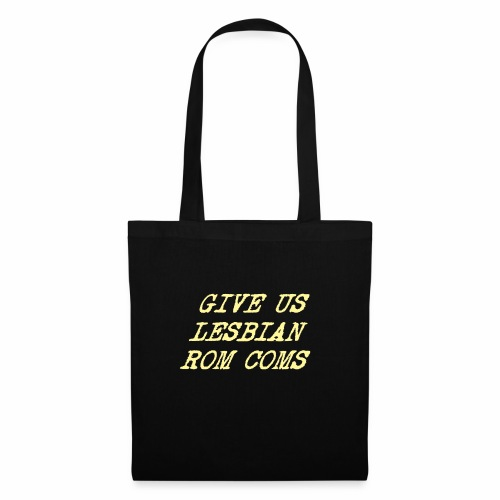 Give Us Lesbian Rom Coms - yellow - Tote Bag