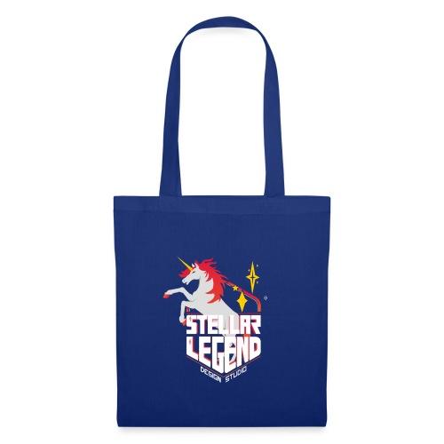 Stellar Legend desing studio text white - Tote Bag