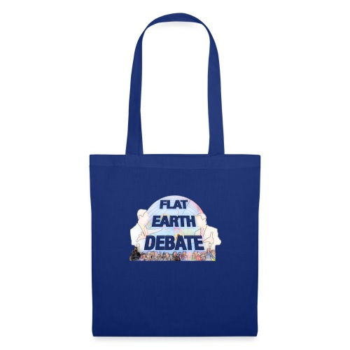 Flat Earth Debate Cartoon - Tote Bag