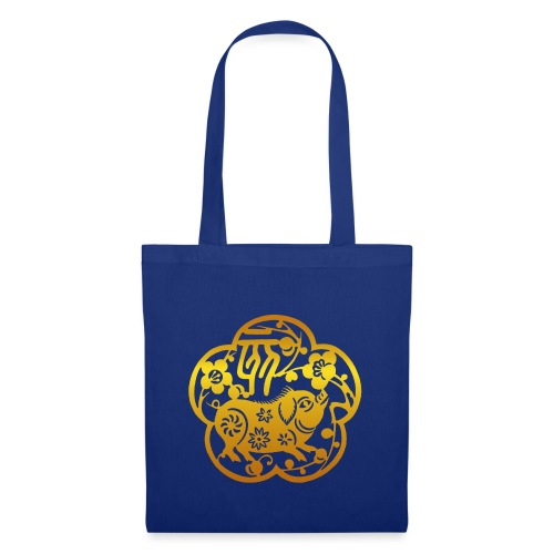 Chinese Zodiac Pig Papercut - Tote Bag