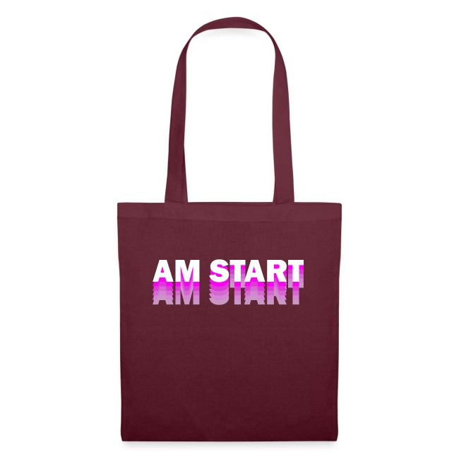 am Start - pink weiß faded
