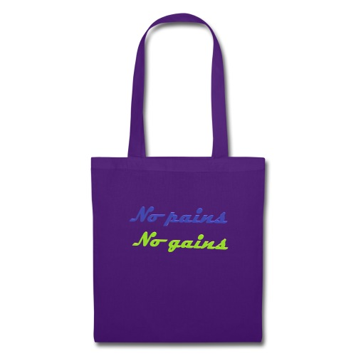 No pains no gains Saying with 3D effect - Tote Bag