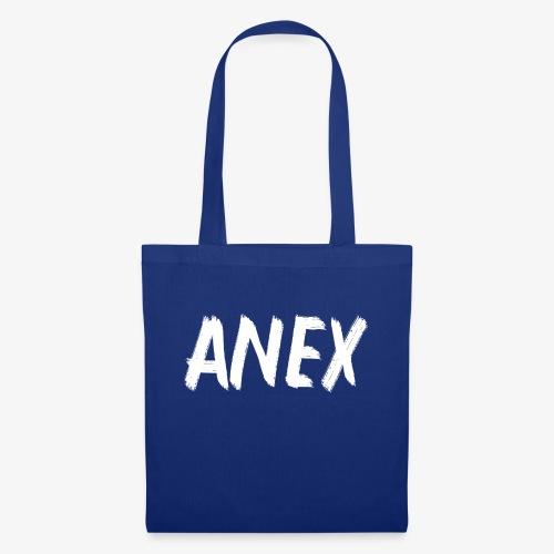 V-neck T-Shirt Anex white logo - Tote Bag