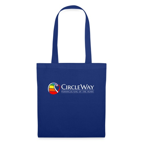 Circleway Permaculture of the heart Logo – weiß - Stoffbeutel
