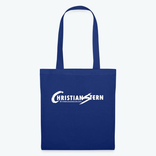 Christian Stern Logo Weiß - Stoffbeutel