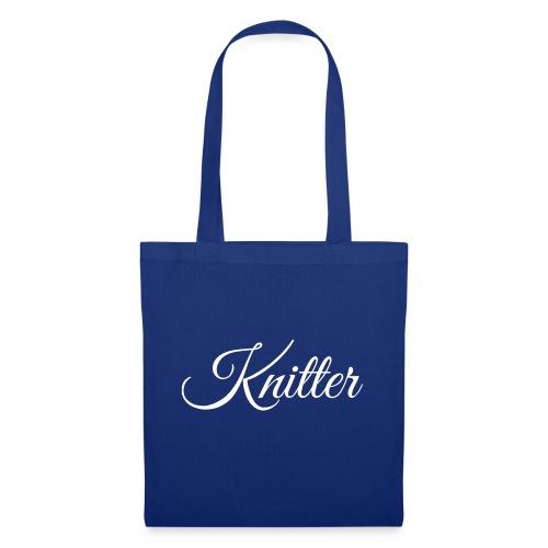 Knitter, white - Tote Bag