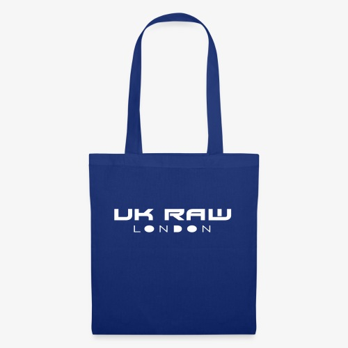 UK Raw London White Logo - Tote Bag