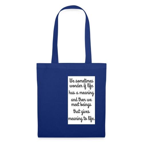 Phrase d'amour en anglais - Tote Bag