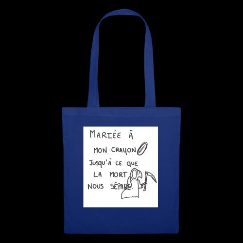 mariée à mon crayon - Tote Bag