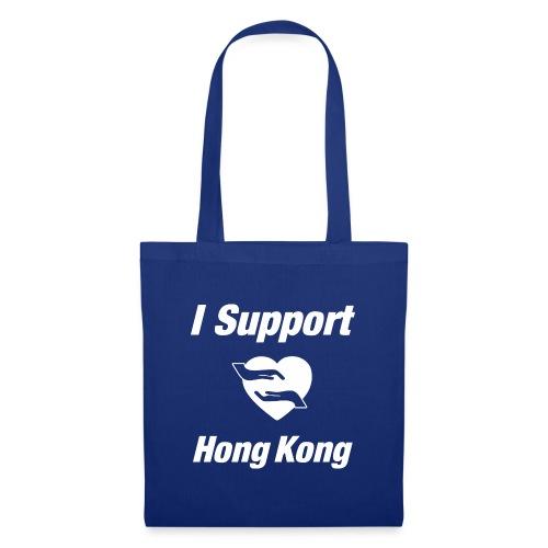I Support Hong Kong   white - Stoffbeutel