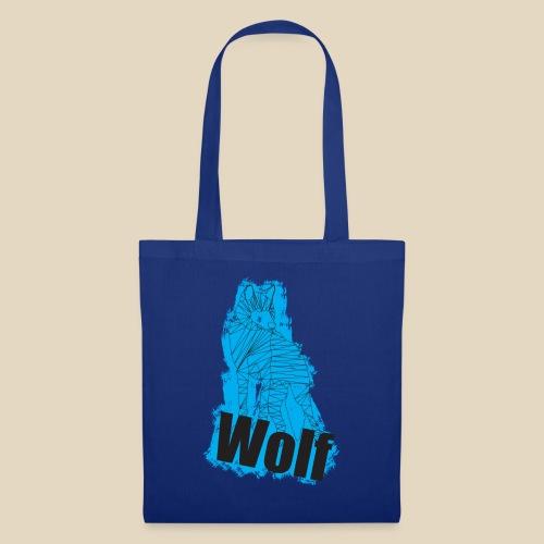 Blue Wolf - Sac en tissu