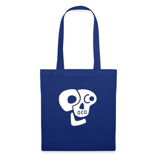 Poco Loco skull logo white - Tote Bag