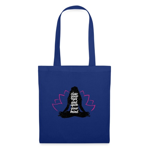 chiudi gli occhi yoga pace amore sport arte - Borsa di stoffa