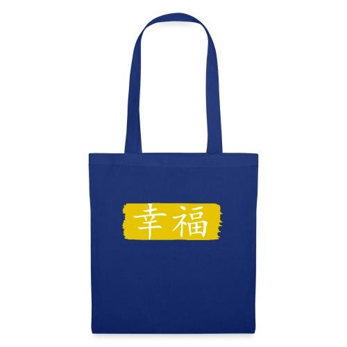 Kanji Giapponese - Felicità - Borsa di stoffa