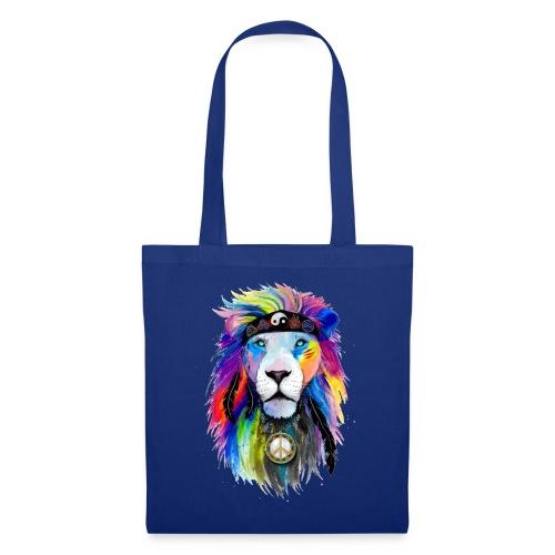 León hippie - Bolsa de tela