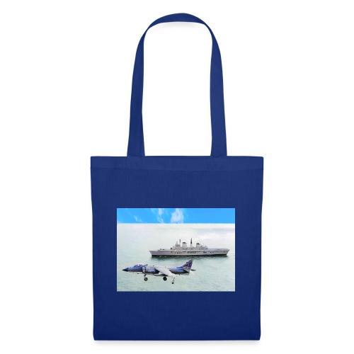 Sea harrier and Invicible digital oil - Tote Bag