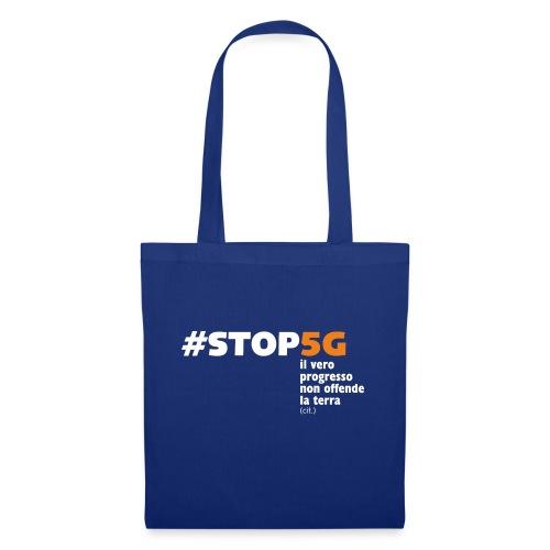 Linea Stop5G con frase - Borsa di stoffa