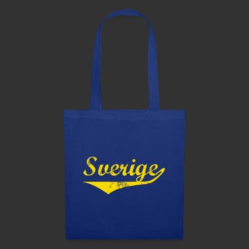 Sverige distressed BlåGul - Tygväska