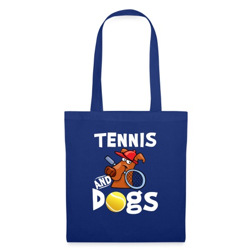 Tennis And Dogs Funny Sports Pets Animals Love - Stoffbeutel
