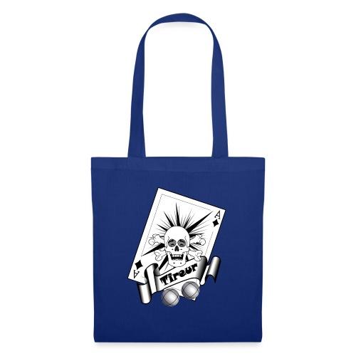 t shirt petanque tireur crane rieur carreau boules - Tote Bag