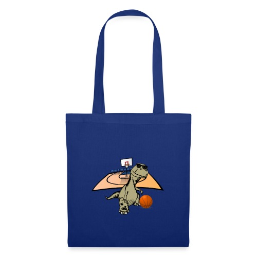 Dino Rex Playing Basketball T-Shirt - Tote Bag