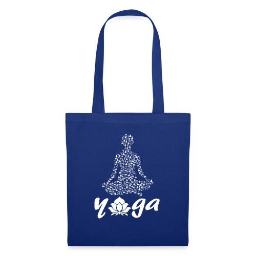 yoga fiore bianco namaste pace amore hippie fitness - Borsa di stoffa