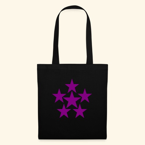 5 STAR lilla - Stoffbeutel