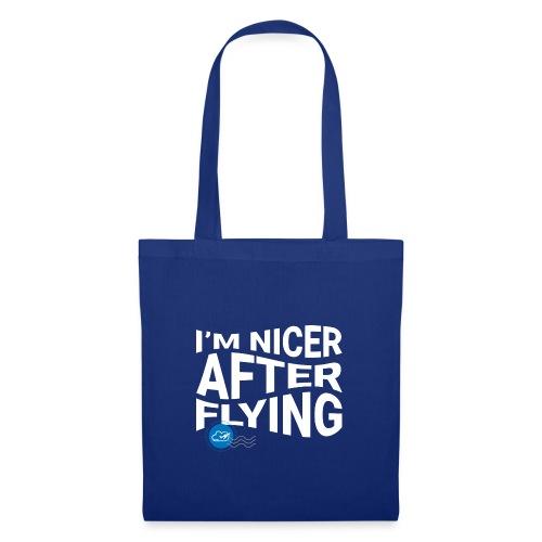 I'm nicer after flying (White) - Tote Bag