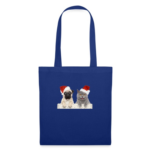 Cat and dog Christmas - Tote Bag