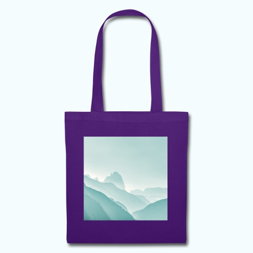 Minimalist zen mountains pastel - Tote Bag