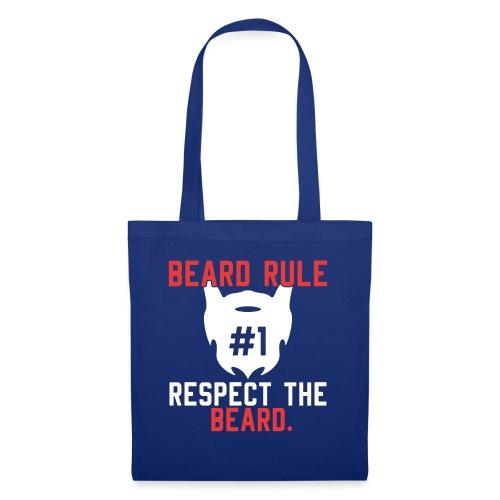 BEARD RULE 1 RESPECT THE RULE - Bart-Regel #1 - Stoffbeutel