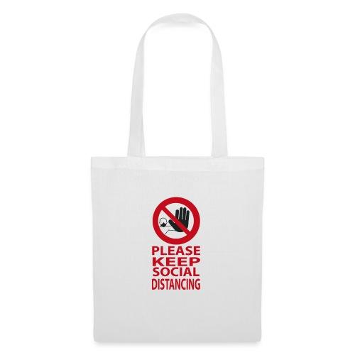 PLEASE KEEP SOCIAL DISTANCING - Borsa di stoffa