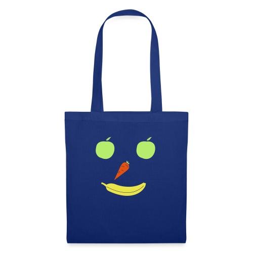 Obst Gemüse Smiley - Stoffbeutel