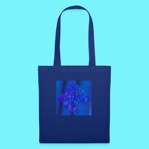 Pythagorean right- and left- angle fish in blue - Tote Bag