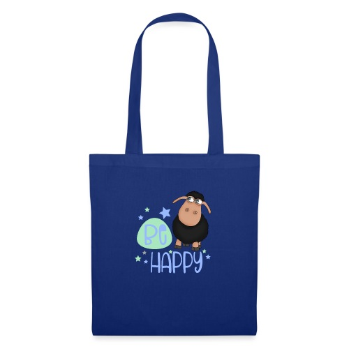 Black sheep - Be happy sheep - lucky charm - Tote Bag