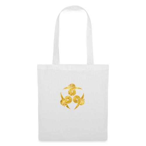 Three Geese Japanese Kamon in gold - Tote Bag