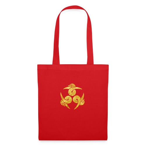 Three Geese Japanese Kamon in gold - Tote Bag