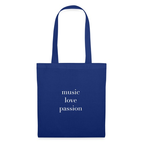 music love passion weiss - Stoffbeutel
