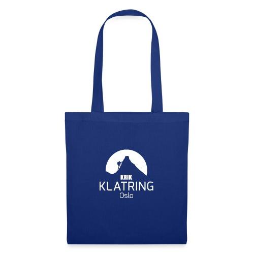 KRIK Klatring Logo foran - Stoffveske