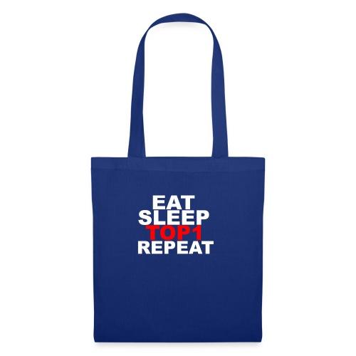 EAT SLEEP TOP 1 REPEAT - Sac en tissu