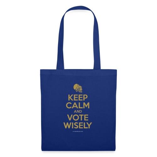 Keep calm and vote wisely - Tas van stof
