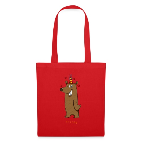 Love Fridays Party Bear for Work Office - Borsa di stoffa