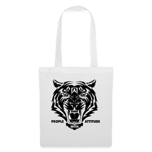 tijger-zwart - Tas van stof