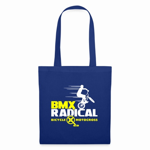 BMX Radical Bicycle Motocross Retro Bmx 1980's - Tote Bag